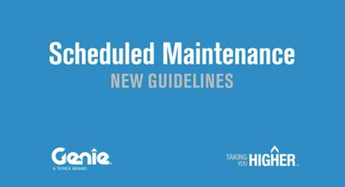 Genie release Boom Maintenance Manual
