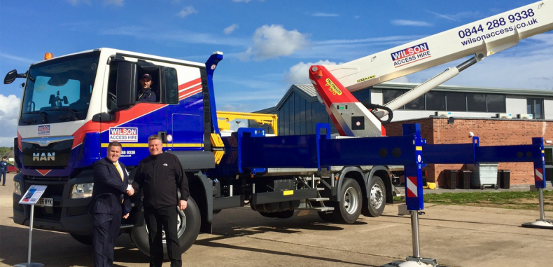 Wilson Access Takes Delivery of Second Palfinger P570