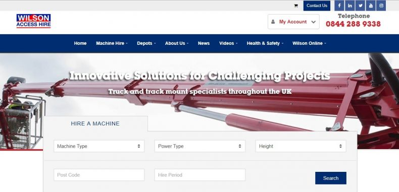New online portal for Truck and Track Mount hire from Wilson Access