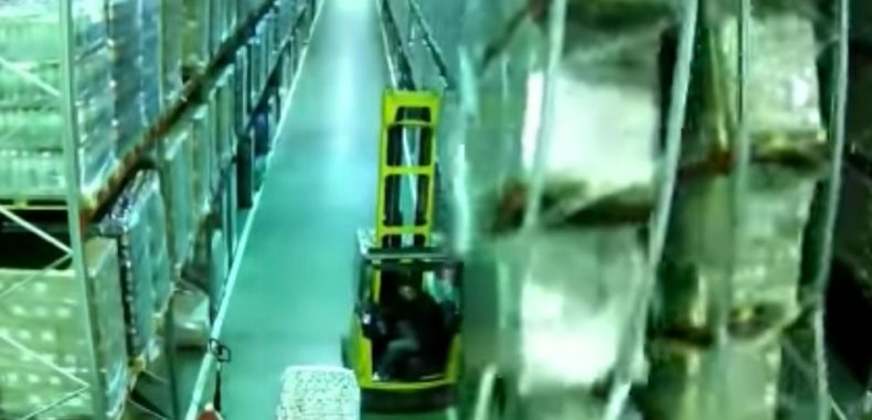 Forklift Causes Entire Warehouse to Fall