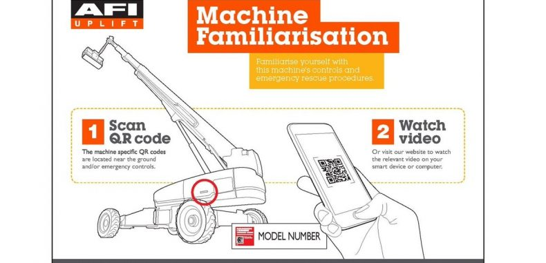 AFI Machines are Fitted with a QR Code